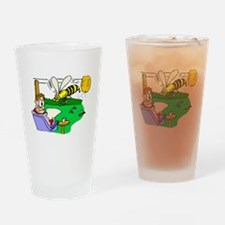 Angry Bees Drinking Glass