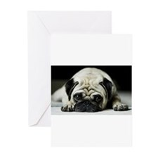 Pug Puppy Greeting Cards