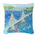 Golden Gate San Francisco Woven Throw Pillow