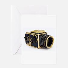 Vintage camera, hasselblad, Greeting Cards