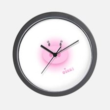 Pinky Oink Pig Wall Clock