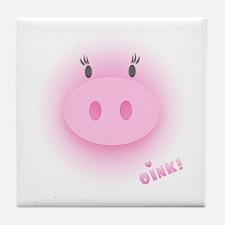 Pinky Oink Pig Tile Coaster