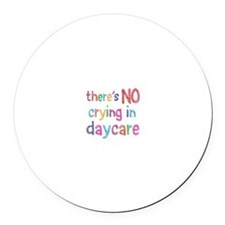 No Crying In Round Car Magnet