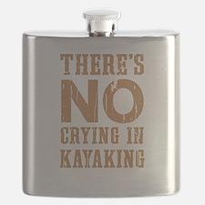 No Crying In Kayaking Flask