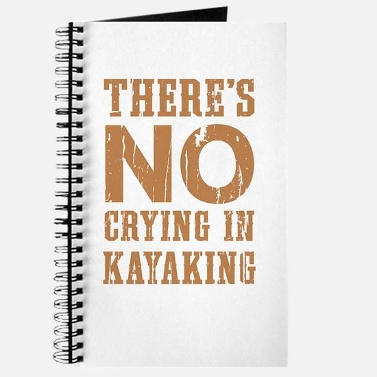 No Crying In Kayaking Journal