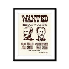 Jesse & Frank James Framed Panel Print