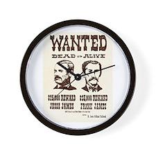 Jesse & Frank James Wall Clock