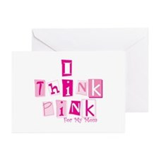 I Think Pink Mom -stack Greeting Cards (Package of