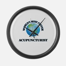 World's Most Clever Acupuncturist Large Wall Clock