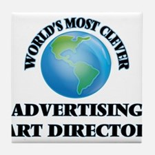 World's Most Clever Advertising Art D Tile Coaster