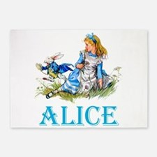 ALICE IN WONDERLAND - BLUE 5'x7'Area Rug