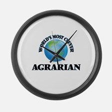 World's Most Clever Agrarian Large Wall Clock