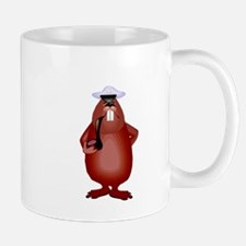 Beaver Smoking Pipe Mugs