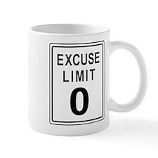 Excuse Limit Zero Small Mug