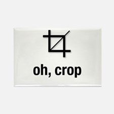 Funny Cropping Rectangle Magnet