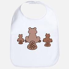 Beaver Family Bib