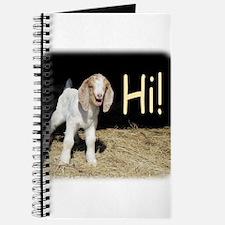 Kid goat says Hi! Journal