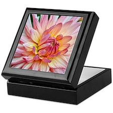 Beautiful pink dahlia Keepsake Box