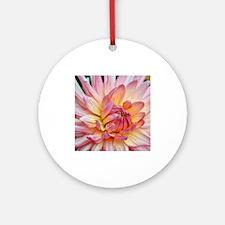 Beautiful pink dahlia Ornament (Round)