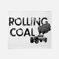Rolling Coal Throw Blanket