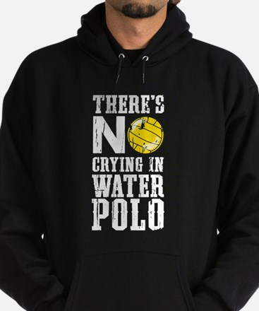 No Crying in Water Polo Hoodie (dark)