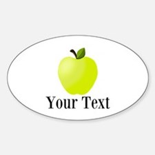 Personalizable Green Apple Decal