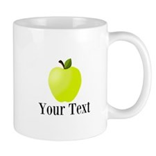 Personalizable Green Apple Mugs