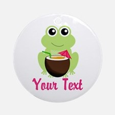 Personalizable Cocktail Frog Ornament (Round)