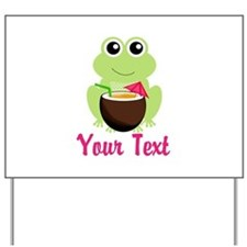 Personalizable Cocktail Frog Yard Sign