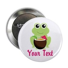 "Personalizable Cocktail Frog 2.25"" Button"