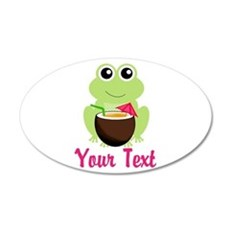 Personalizable Cocktail Frog Wall Decal