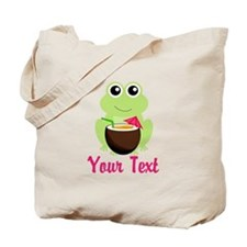 Personalizable Cocktail Frog Tote Bag