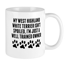 Well Trained West Highland White Terrier Owner Small Mugs