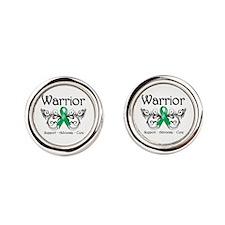 Liver Cancer Warrior Round Cufflinks