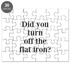Did you turn off the flat iron? Puzzle
