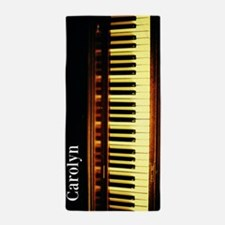 Personalized Piano Keyboard Beach Towel
