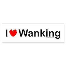 Wanking Bumper Sticker