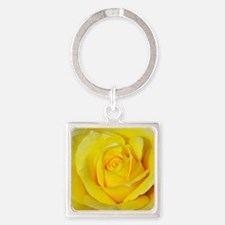 Beautiful single yellow rose Keychains