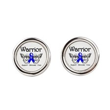 Colon Cancer Warrior Round Cufflinks