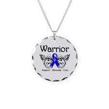 Colon Cancer Warrior Necklace Circle Charm