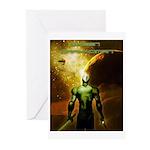 Green Drakkoman Greeting Cards (Pk of 10)