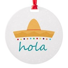 Hola Hat Ornament