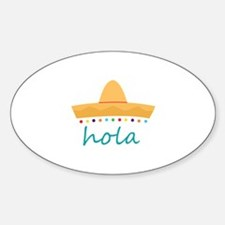 Hola Hat Decal