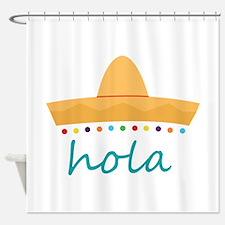 Hola Hat Shower Curtain