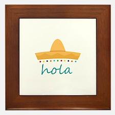 Hola Hat Framed Tile