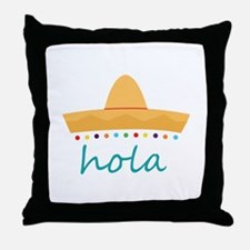 Hola Hat Throw Pillow
