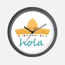 Hola Hat Wall Clock