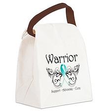Cervical Cancer Warrior Canvas Lunch Bag
