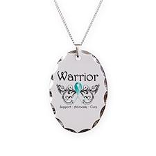 Cervical Cancer Warrior Necklace Oval Charm