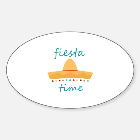 Fiesta Time Hat Decal